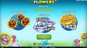 Flowers Video Slot Double Symbols, Free Spins & Stacked Wilds