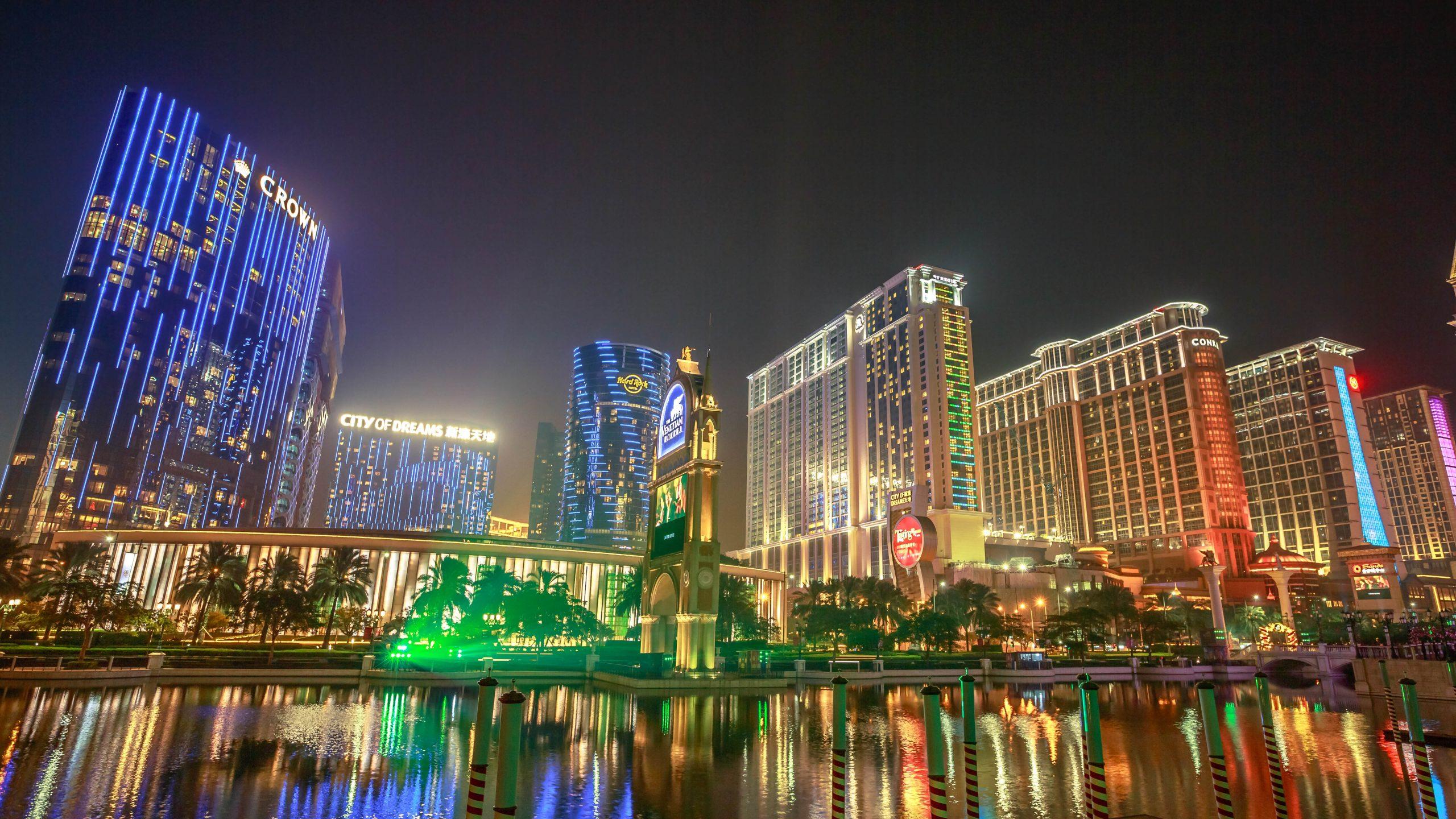 Casinos at the Cotai strip in Macau