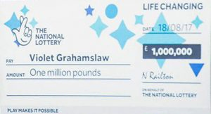 National Lottery Cheque 1 Million Pound