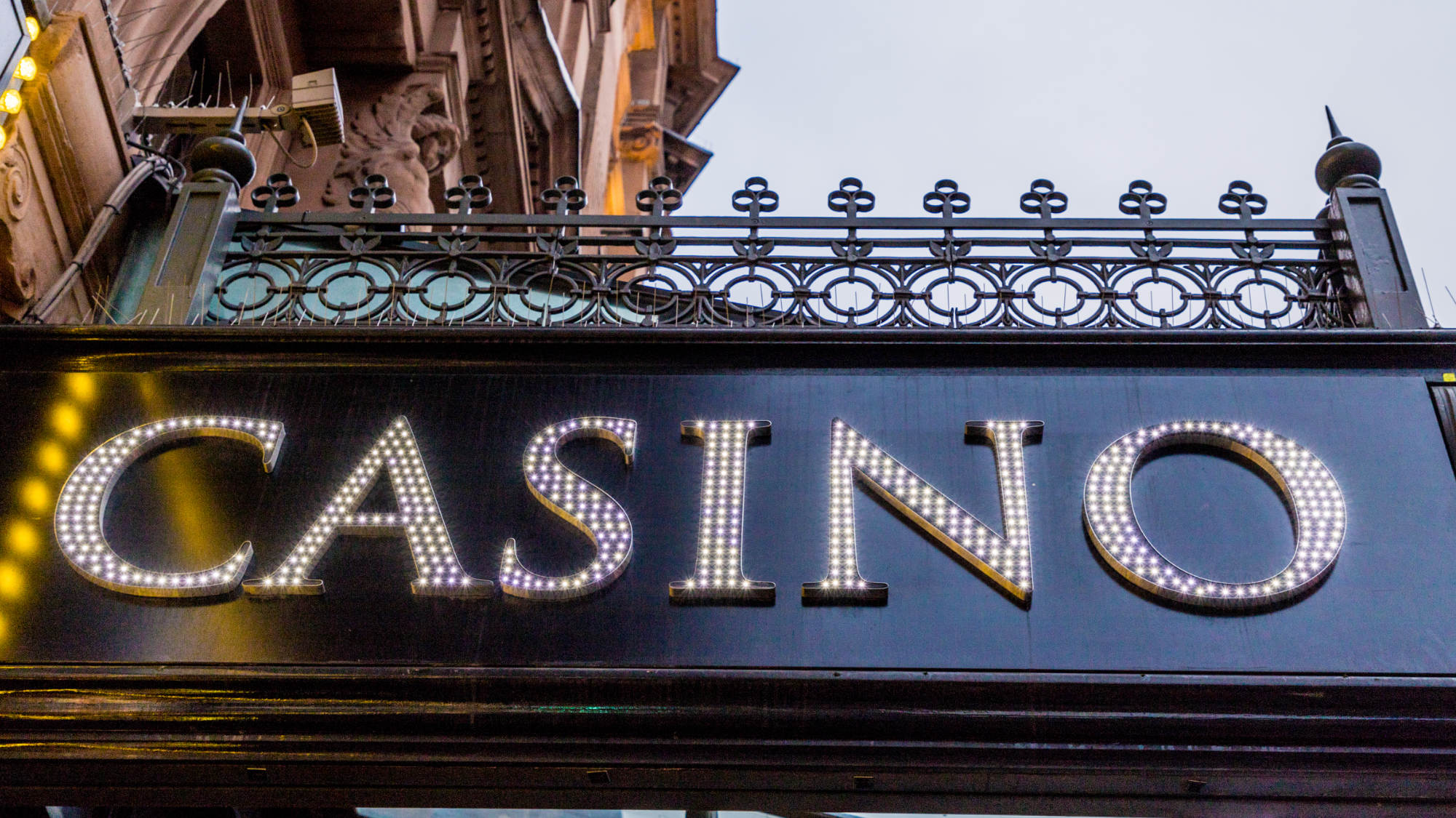 Casino Sign at Hippodrome Casino London