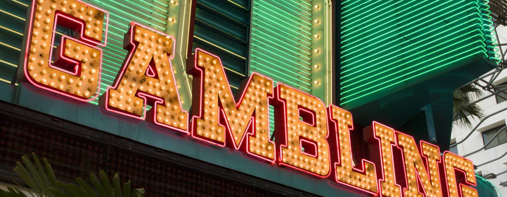 Gambling Sign at Binion's Las Vegas