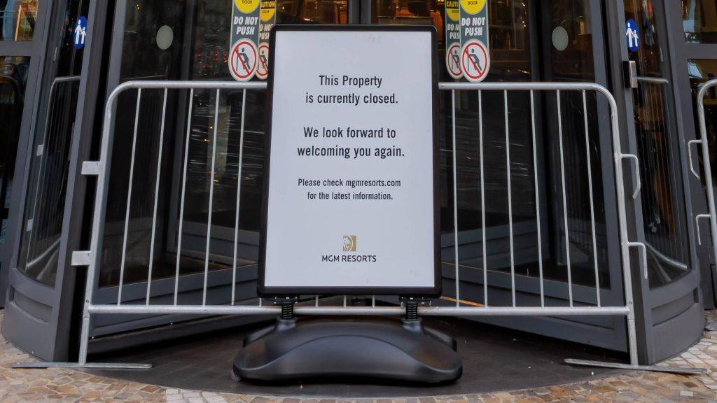 Park MGM Closed during coronavirus lockdown