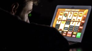 Man Playing in Online Casino