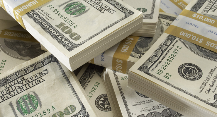 Stack of US Dollars