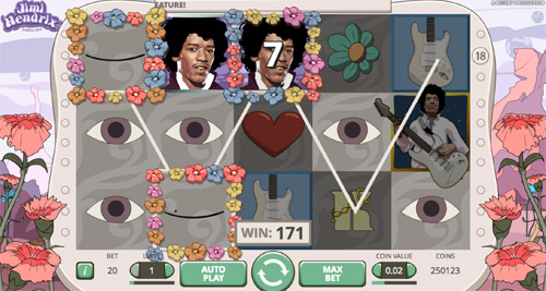Jimi Hendrix Video Slot